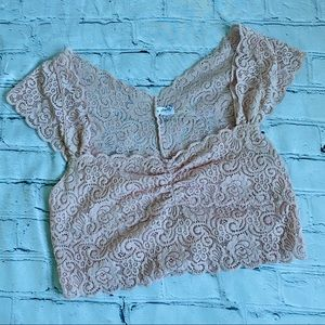 Free People Lace Crop Top